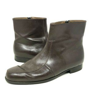 JB Brand Boots Brown Work Riding Shoes Heel Tap